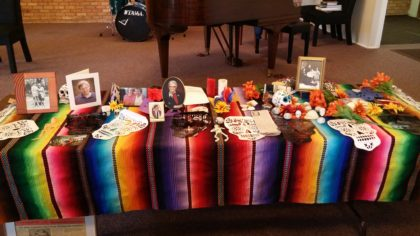 The altar that was created at the Day of the Dead Service.
